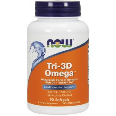 NOW Tri-3D Omega - 90 Softgels