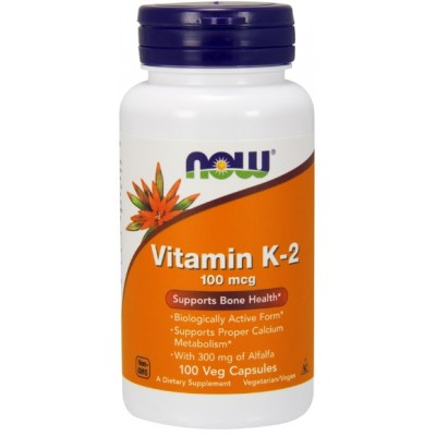 NOW Vitamina K-2 MK-4 100mcg - 100 Capsule vegetale