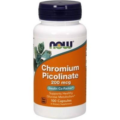 NOW Crom Picolinat 200mcg - 100 Capsule vegetale