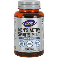 NOW Men's Active Sports Multi Vitamine - 90 Softgels
