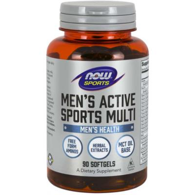 NOW Men's Active Sports Multi Vitamine - 90 Softgels
