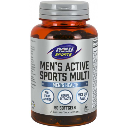NOW Men's Extreme Sports Multi Vitamine - 90 Softgels