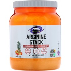 NOW Arginina Stack Pre-Workout Tropical Punch - 1000g
