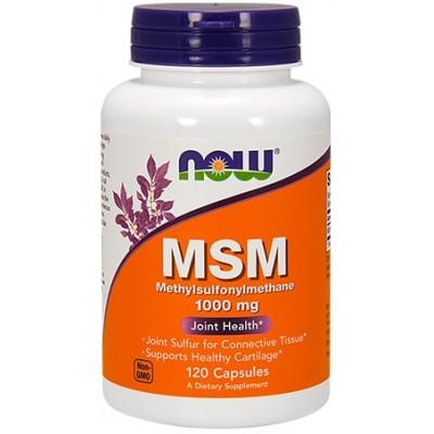 NOW MSM 1000mg -120 Capsule vegetale