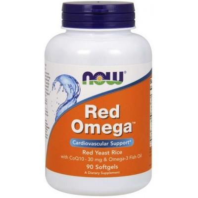 NOW Red Omega + Coenzima Q10 30mg  - 90 Softgels