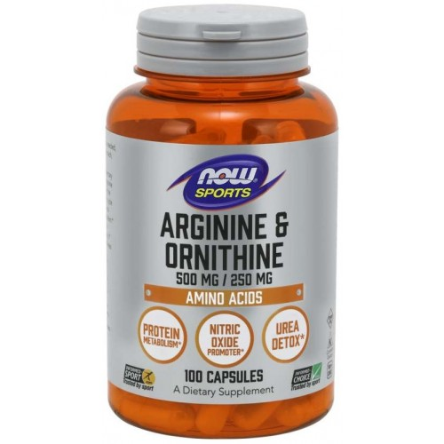 NOW L-Arginina & Ornitina 500mg/250mg - 100 Capsule