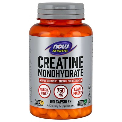 NOW Creatina Monohidrata 750 mg - 120 Capsule