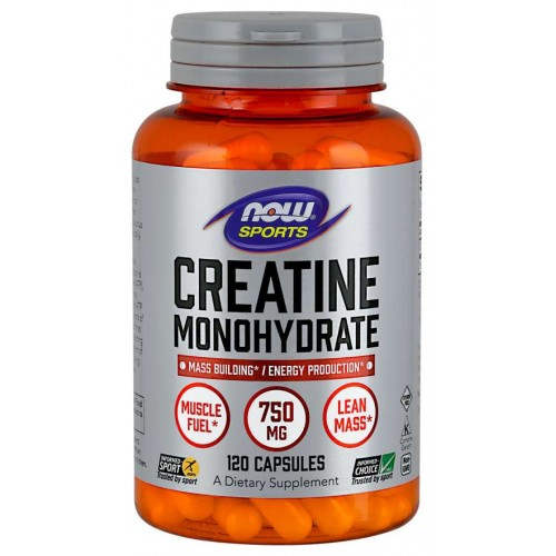 NOW Creatina Monohidrata 750 mg - 120 Capsule