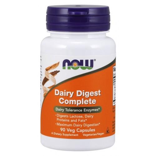 NOW Dairy Digest Complete - 90 Capsule Vegetariene