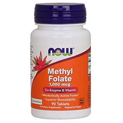 NOW Methyl Folate 1000mcg - 90 Tablete