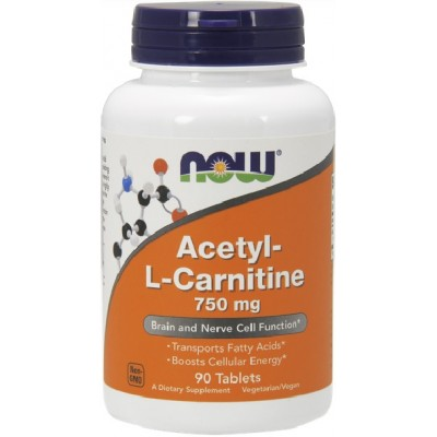 NOW Acetyl L-Carnitina 750 mg - 90 Tablete