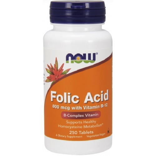 NOW Acid Folic  800mcg - 250 Tablete