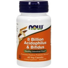 NOW Acidophilus & Bifidus 8 Billion  - 60 Capsule vegetale