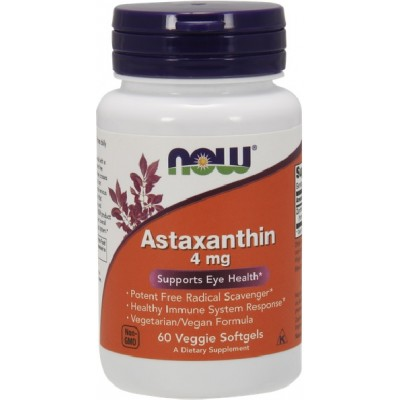NOW Astaxantina 4mg - 60 Vegan Softgels