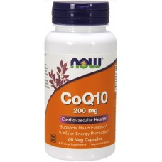 NOW Coenzima Q10 200mg - 60 Capsule vegetale