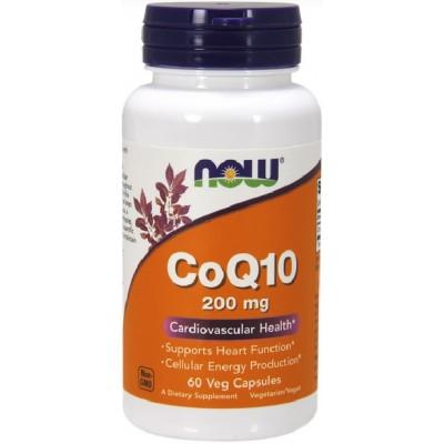 NOW Coenzima Q10 200mg - 60 Capsule vegetale