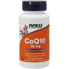 NOW Coenzima Q10 30mg - 60 Capsule vegetale
