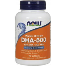 NOW DHA 500mg - 90 Softgels