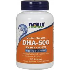 NOW DHA-500mg - 90 Softgels