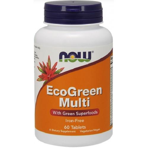 NOW Eco-Green Multivitamine si Minerale - 90 Capsule