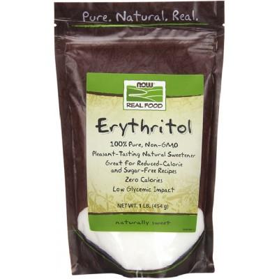 NOW Erythritol Indulcitor Natural - 454g