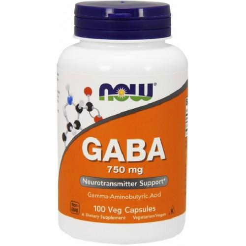 NOW GABA 750mg - 100 Capsule