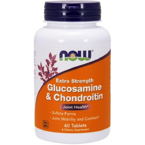 NOW Glucosamina si Condroitina 750/600mg - 60 Tablete