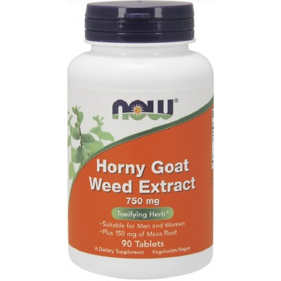 NOW Horny Goat Weed Extract 750mg - 90 Tablete