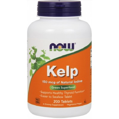 NOW Kelp 150mcg - 200 Tablete