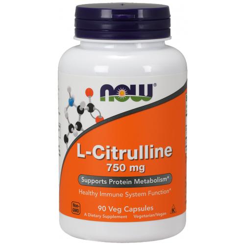 NOW L-Citrullina 750 mg - 90 Capsule vegetale
