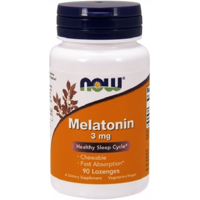 NOW Melatonina 3mg - 90 Tablete masticabile