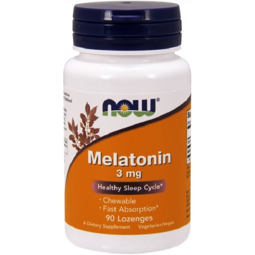 NOW Melatonina 3mg - 90 Tablete masticabile