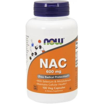 NOW N-Acetyl Cysteine (NAC) 600mg - 100 Capsule vegetale