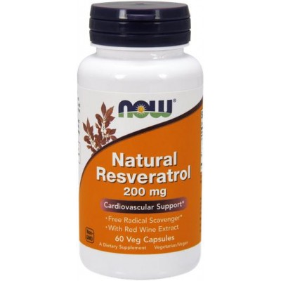 NOW Natural Resveratrol 200mg - 60 Capsule vegetale