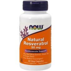 NOW Natural Resveratrol 50mg - 60 Capsule vegetale