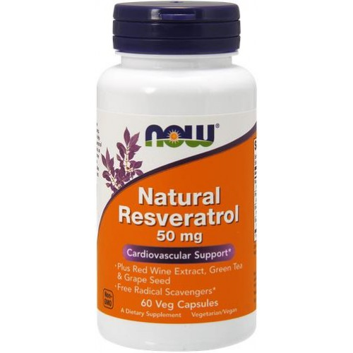 NOW Natural Resveratrol 50mg - 60 Capsule