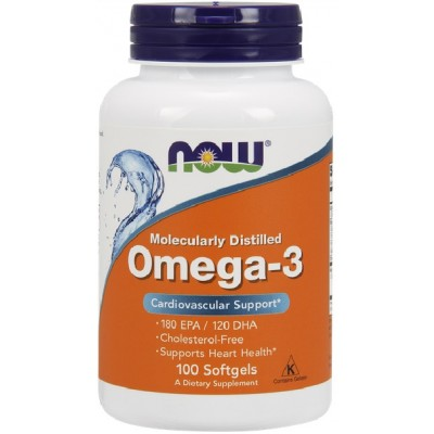 NOW Omega 3 - 100 Softgels
