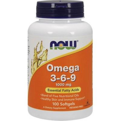 NOW Omega 3-6-9 1000mg - 100 Softgels