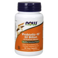 NOW Probiotic-10 50 Billion - 50 Capsule