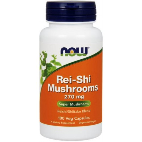NOW Rei-Shi Mushrooms 270mg - 100 Capsule vegetale