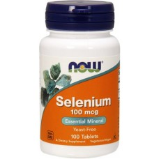 NOW Seleniu 100mcg - 100 Tablete