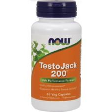 NOW TestoJack 200, Stimulent de Testosteron - 60 Capsule vegetale