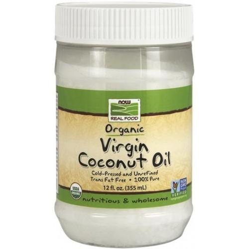 NOW Ulei de Cocos Virgin Bio Non-GMO - 355ml