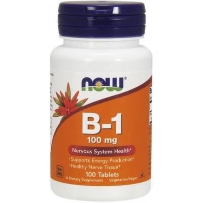 NOW Vitamina B-1 (Tiamina) 100mg - 100 Tablete
