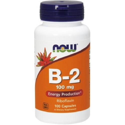 NOW Vitamina B-2 (Riboflavina) 100mg - 100 Capsule