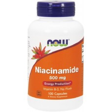 NOW Vitamina B-3 (Niacinamida) 500mg- 100 Capsule