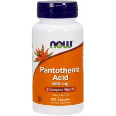 NOW Vitamina B-5 (Acid Pantotenic) 500mg - 100 Capsule