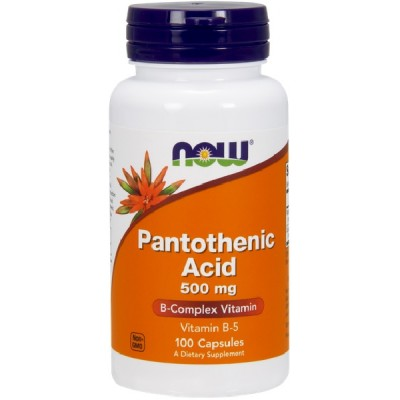 NOW Vitamina B-5 (Acid Pantotenic) 500mg - 100 Capsule vegetale