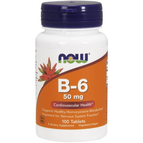 NOW Vitamina B-6 50mg - 100 Tablete