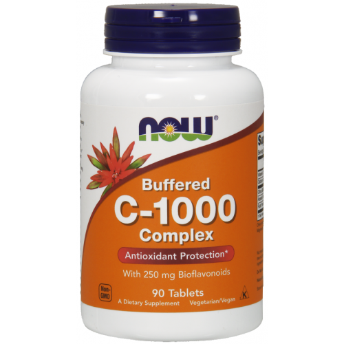 NOW Vitamina C-1000 Complex Tamponata - 90 Tablete